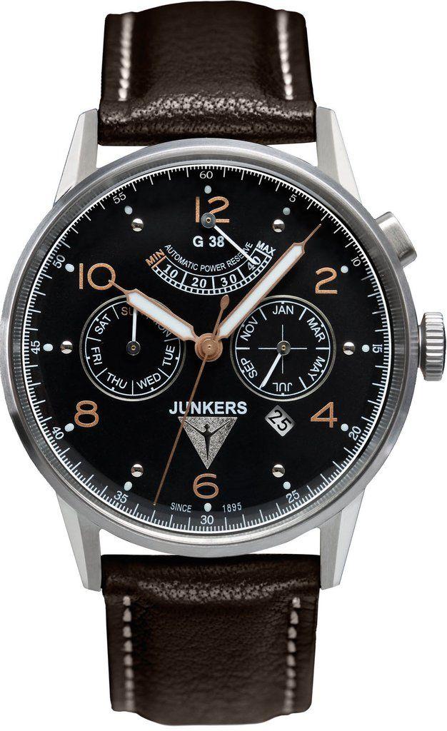 Junkers Watch Junkers G38 #2015-2016-sale #bezel-fixed #black ...