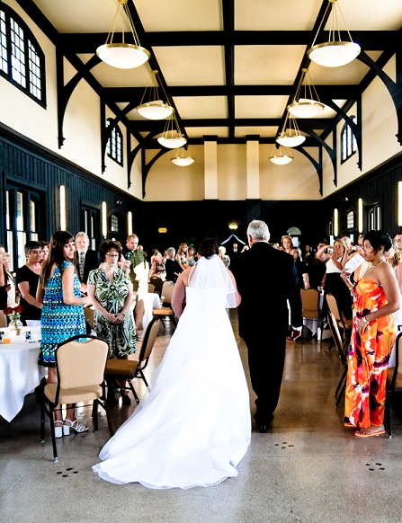 If you're looking for a memorable and unique location for your special wedding day then the Bristol Train Station is the place for you! We're loving the rustic look of this venue with the beams in the ceiling! Click the image for more information and to check availability! Photo credit: BristolTrainStation.com