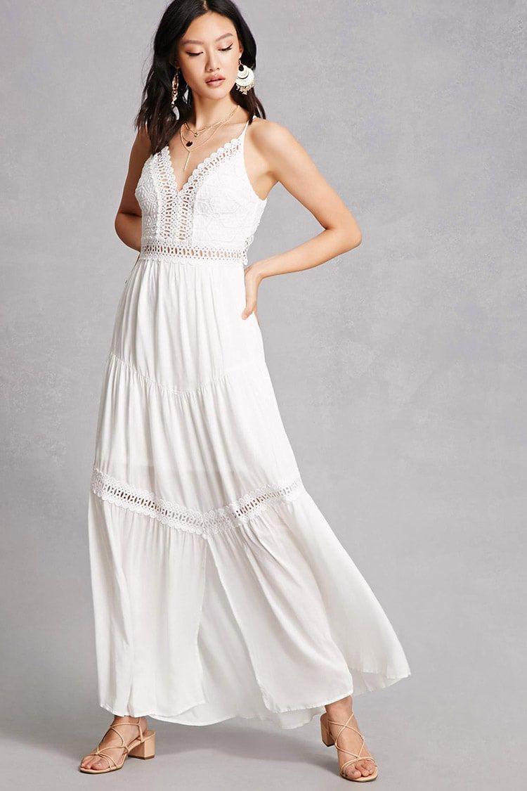 3fb4ca1c348 Soieblu Crochet Panel Maxi Dress