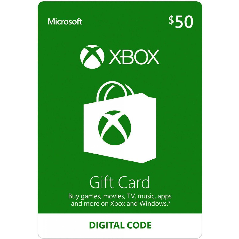 Xbox Gift Card USD 50 digital in 2019 Gift card