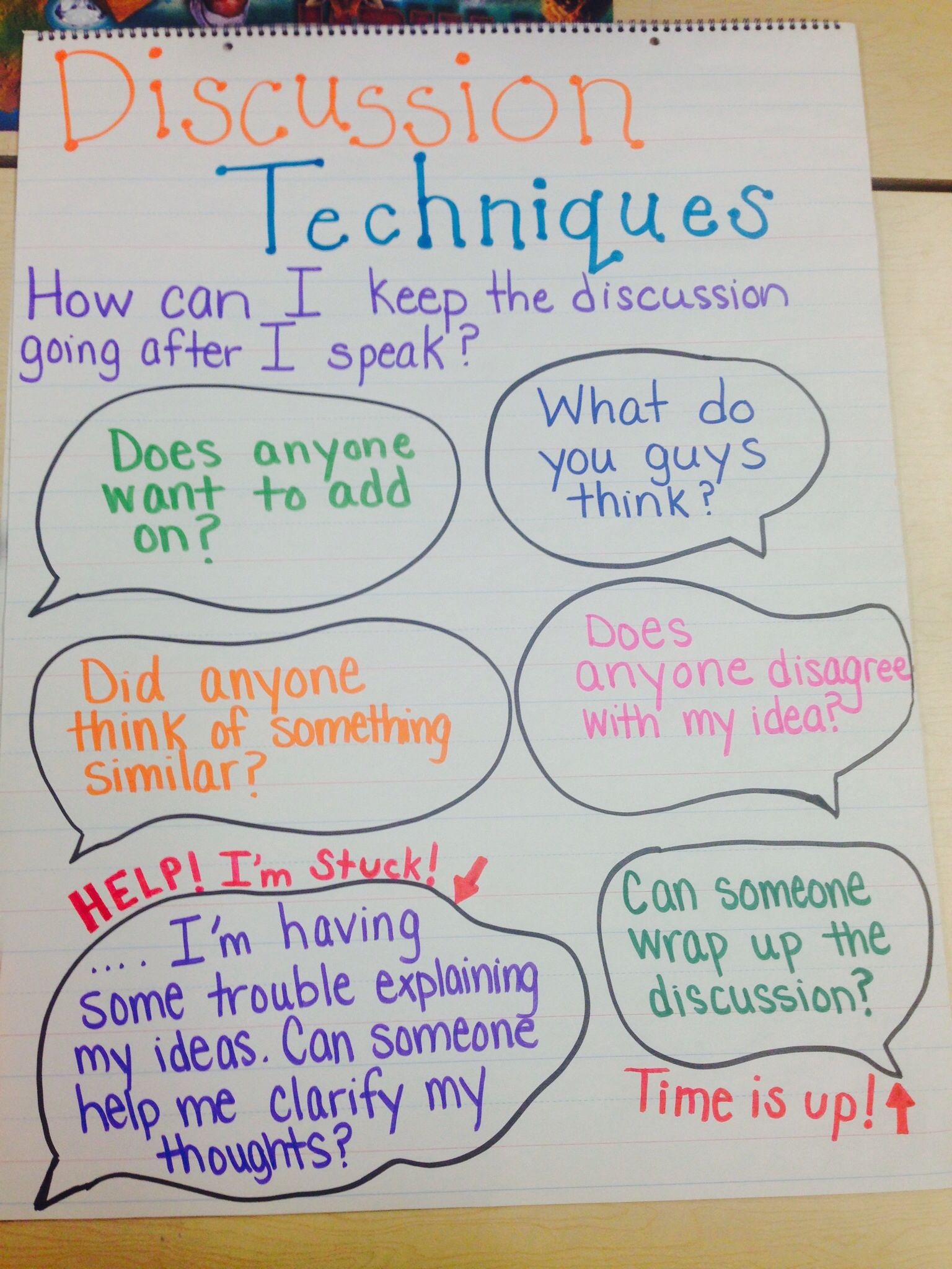 Classroom discussions accountable talk sentence stems