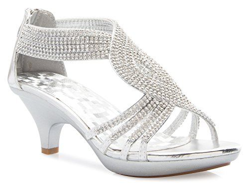Cool Olivia K Women S Open Toe Strappy Rhinestone Dress Sandal Low
