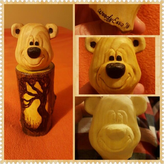 My dear bear woodcarving and wood burning. ..
