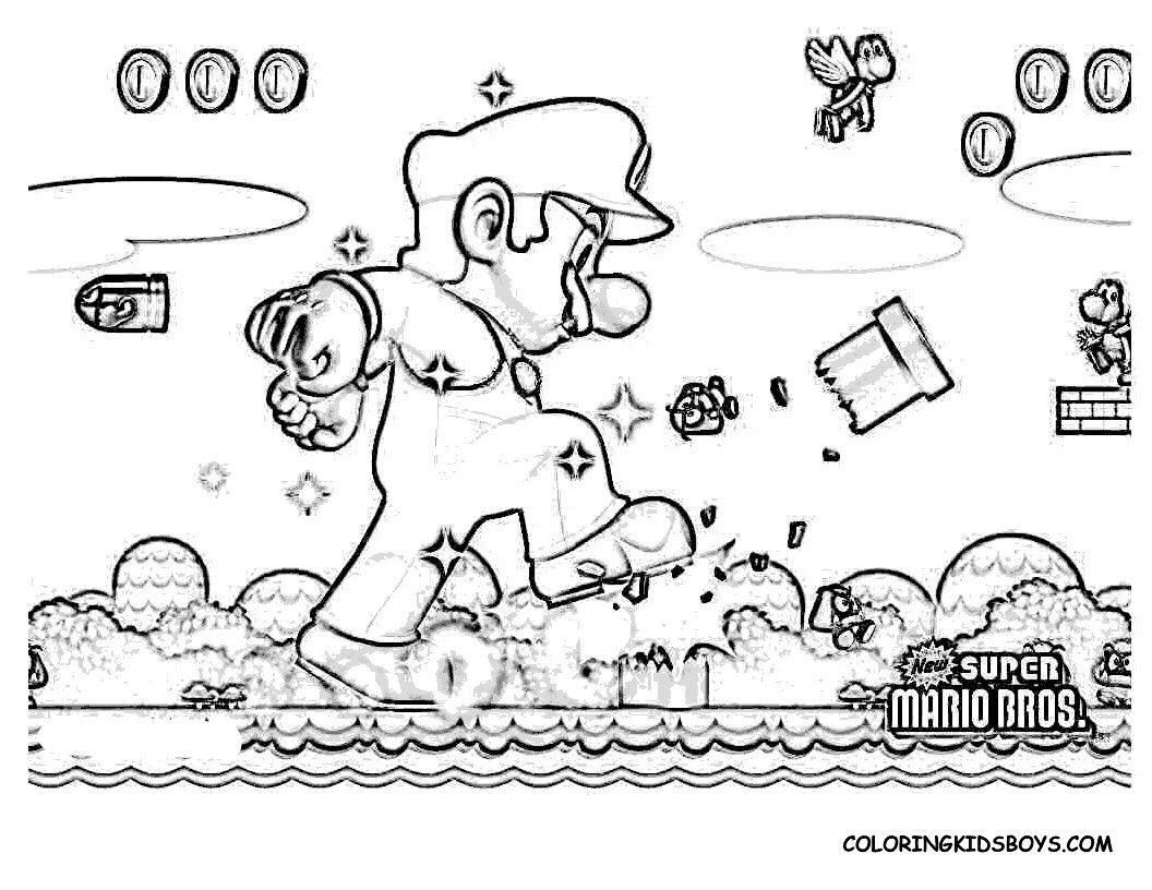Coloriage Mario Bros U Supercoloriage