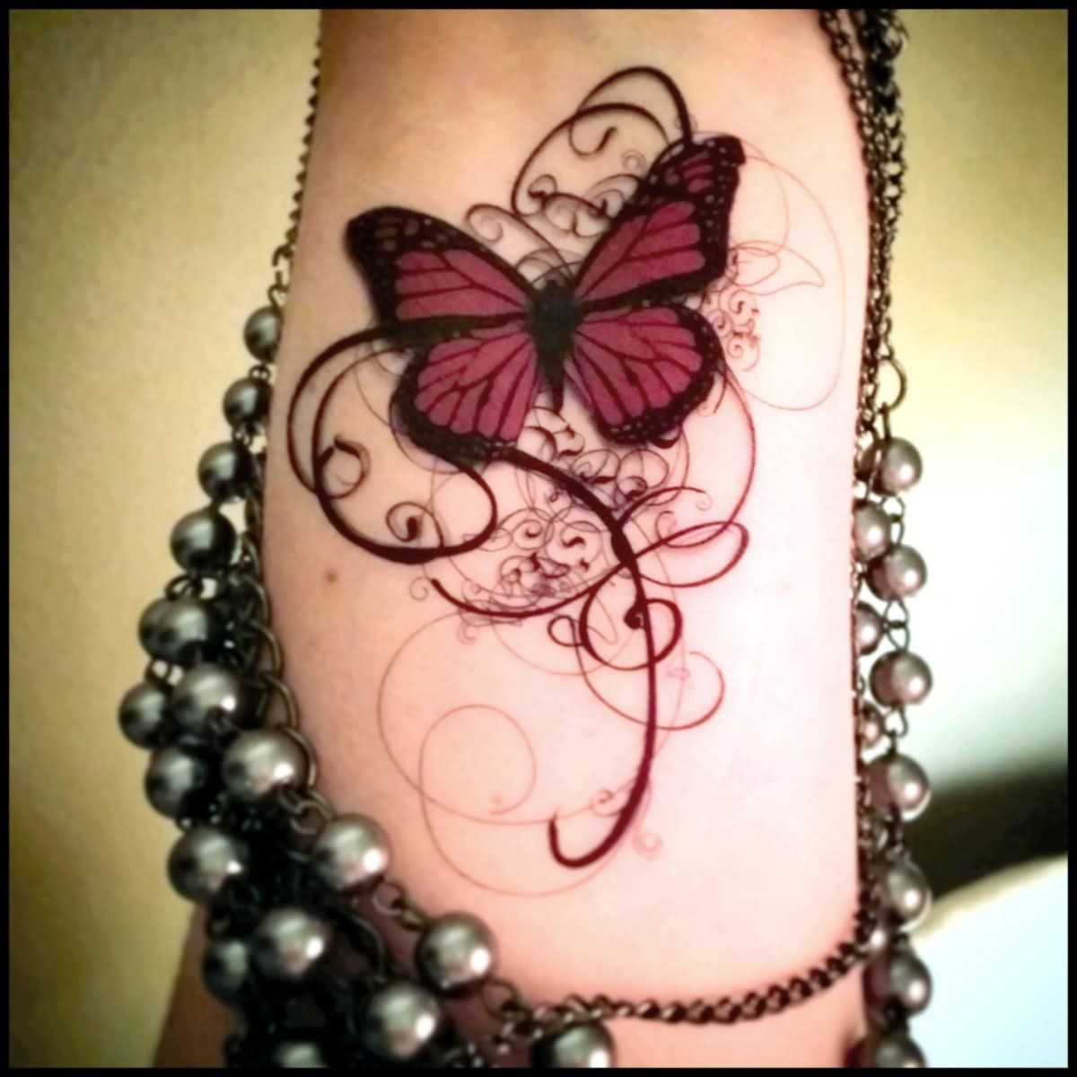 Download Free Classic Gothic Butterfly Tattoo Design For