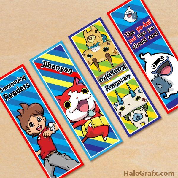 FREE Printable Yo-Kai Watch Bookmarks Yo-Kai Watch Printables