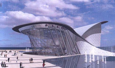 Haim Dotan Architect Ashdod City Concert Hall Israel 2004 Arhitektura Risunki