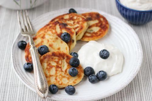 russian farmer's cheese/ricotta pancakes.
