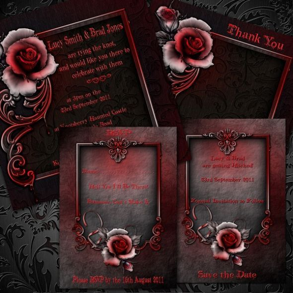 neo goth wedding invitations Google Search steampunk invatations