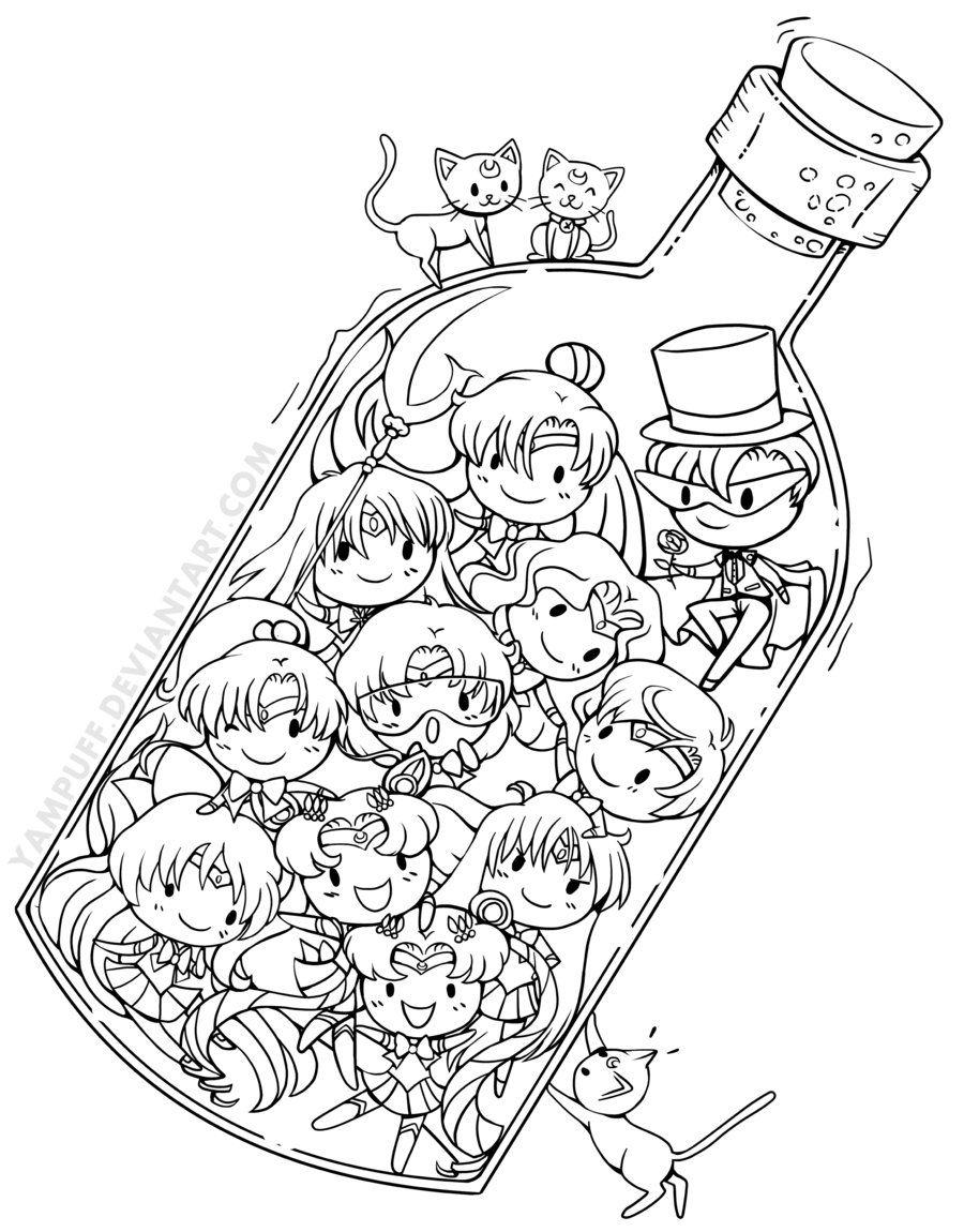 Sailor Senshi in a Bottle by YamPuff.deviantart.com on @deviantART ...