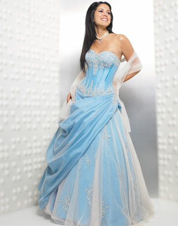 This pastel blue gown is SO pretty!