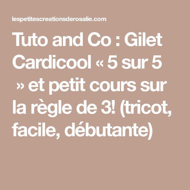 Tuto and Co : Gilet Cardicool « 5 sur 5 » et petit cours ...