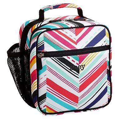 Gear Up Diagonal Stripe Classic Lunch With Mesh Side