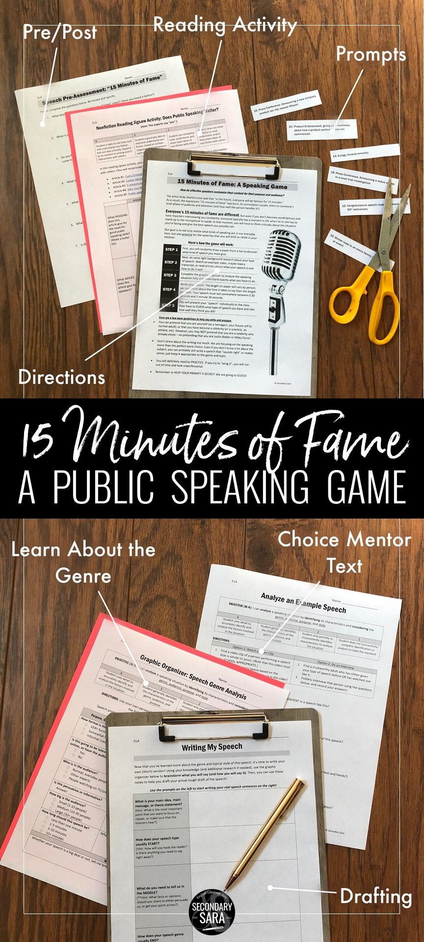 Public Speaking Activity: '15 Minutes of Fame' Real World Speeches
