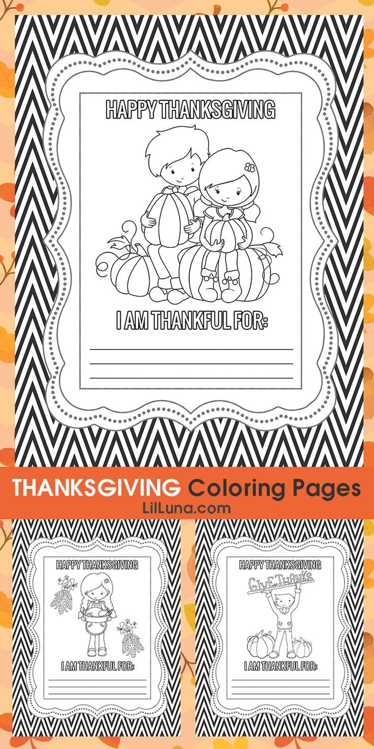 FREE Printable Thanksgiving Coloring Pages - Give the kids some ...