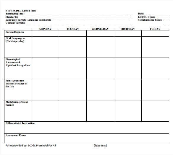 Blank Business Plan Template Word Lesson Plan Book Templates