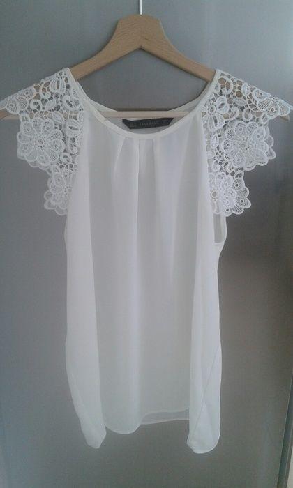 a2e476a3a867d Top blanc dentelle   vinted   Pinterest   Top blanc, Style mode ...