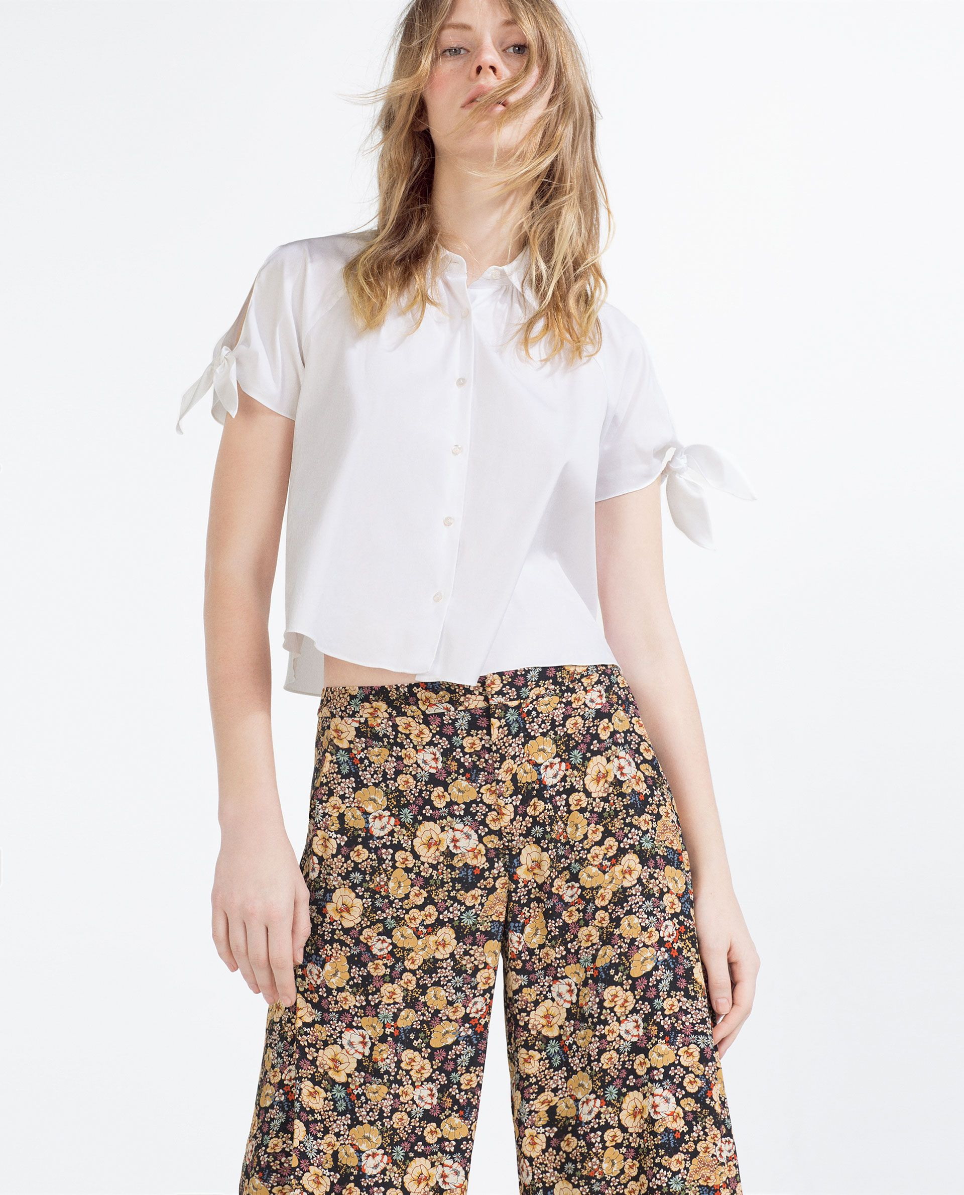 CROPPED BOW SHIRT - View all - NEW THIS WEEK - Woman - COLLECTION ...