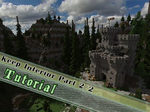 Minecraft Tutorial Medieval Keep Interior Part 2