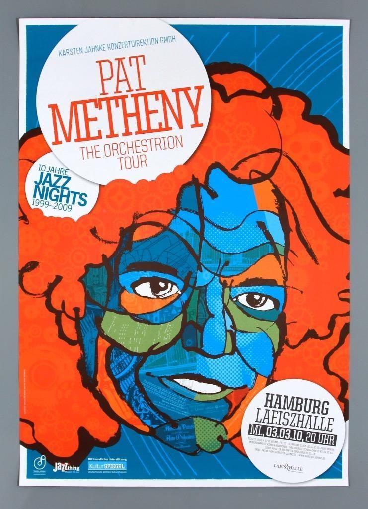 Pat Metheny RARE Original Hamburg 2010 Concert Poster | eBay