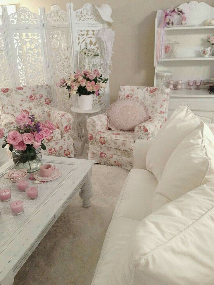 Incredible White Couch Floral Armchairs Pink Candles And Many Roses Gamerscity Chair Design For Home Gamerscityorg