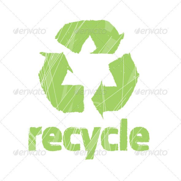 Recycling Symbol Vector Stamp Vector Stamp And Label Pinterest