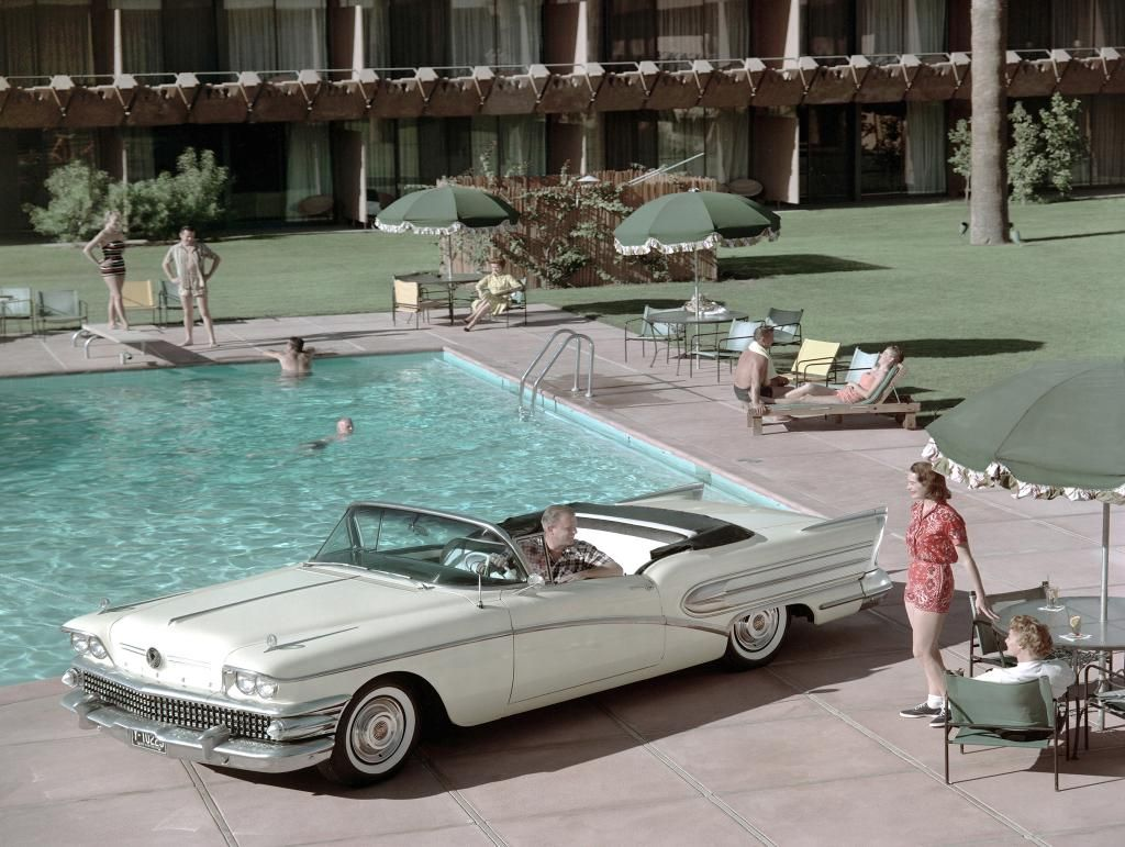 From the beach to the pool, the 1958 @Buick Special Series 40 convertible was made for the summer. #tbt