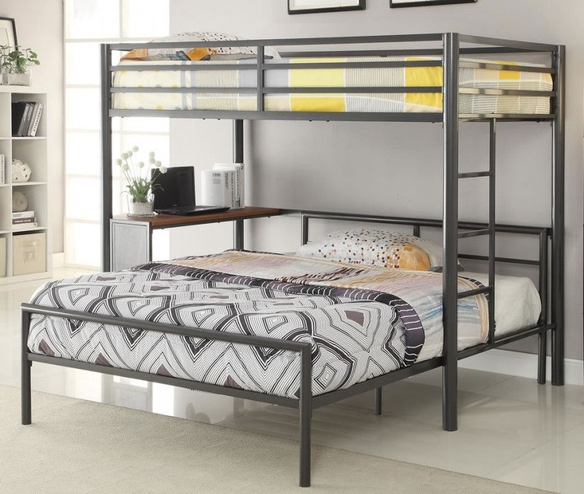 2018 Twin Over Queen Bunk Bed Ikea Wall Decor Ideas For Bedroom Check More At Http Www Closetreader Beliches Modernas Espacos Pequenos Ideias Para Mobilia