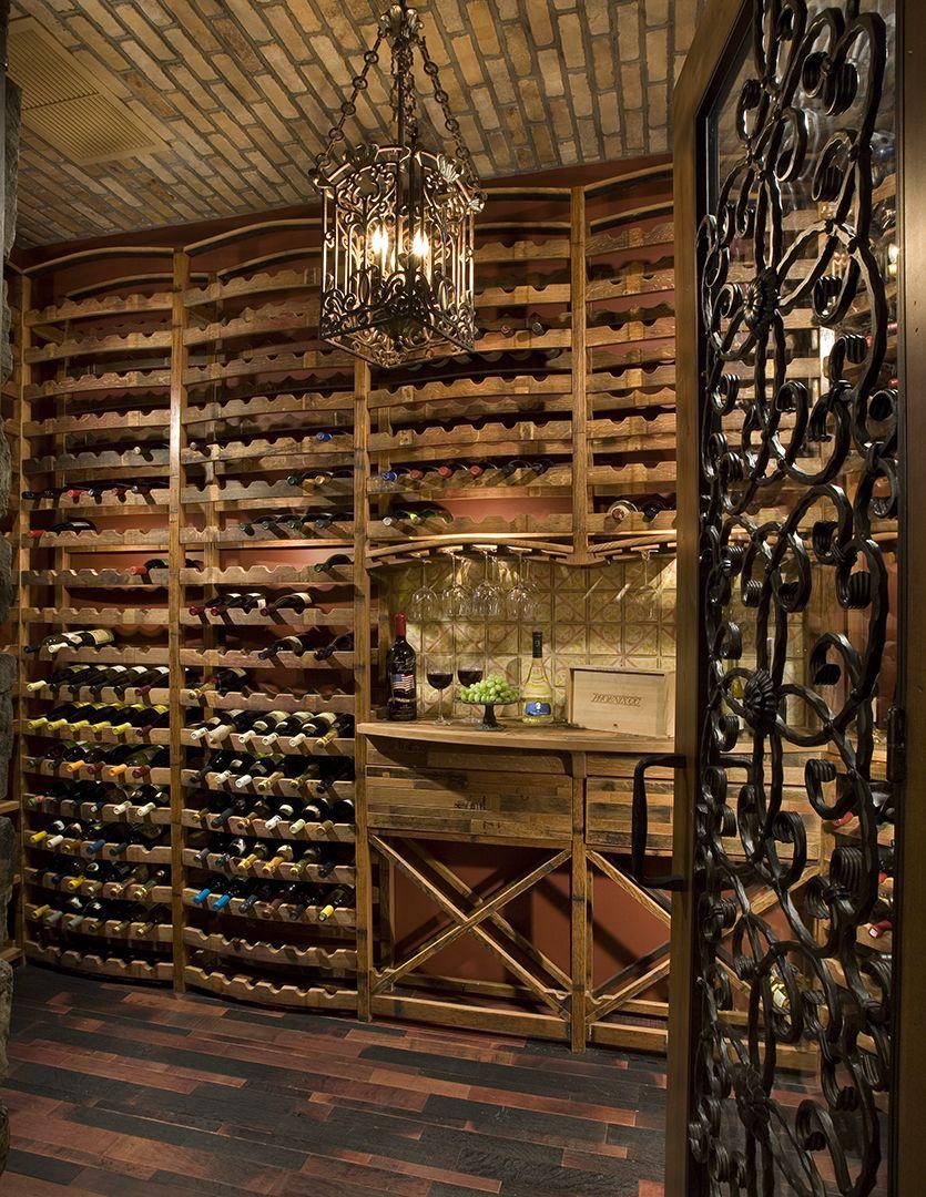 Unique Basement Wine Storage