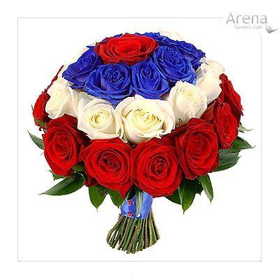 Red White Blue Wedding Bouquet Patriotic Wedding Blue