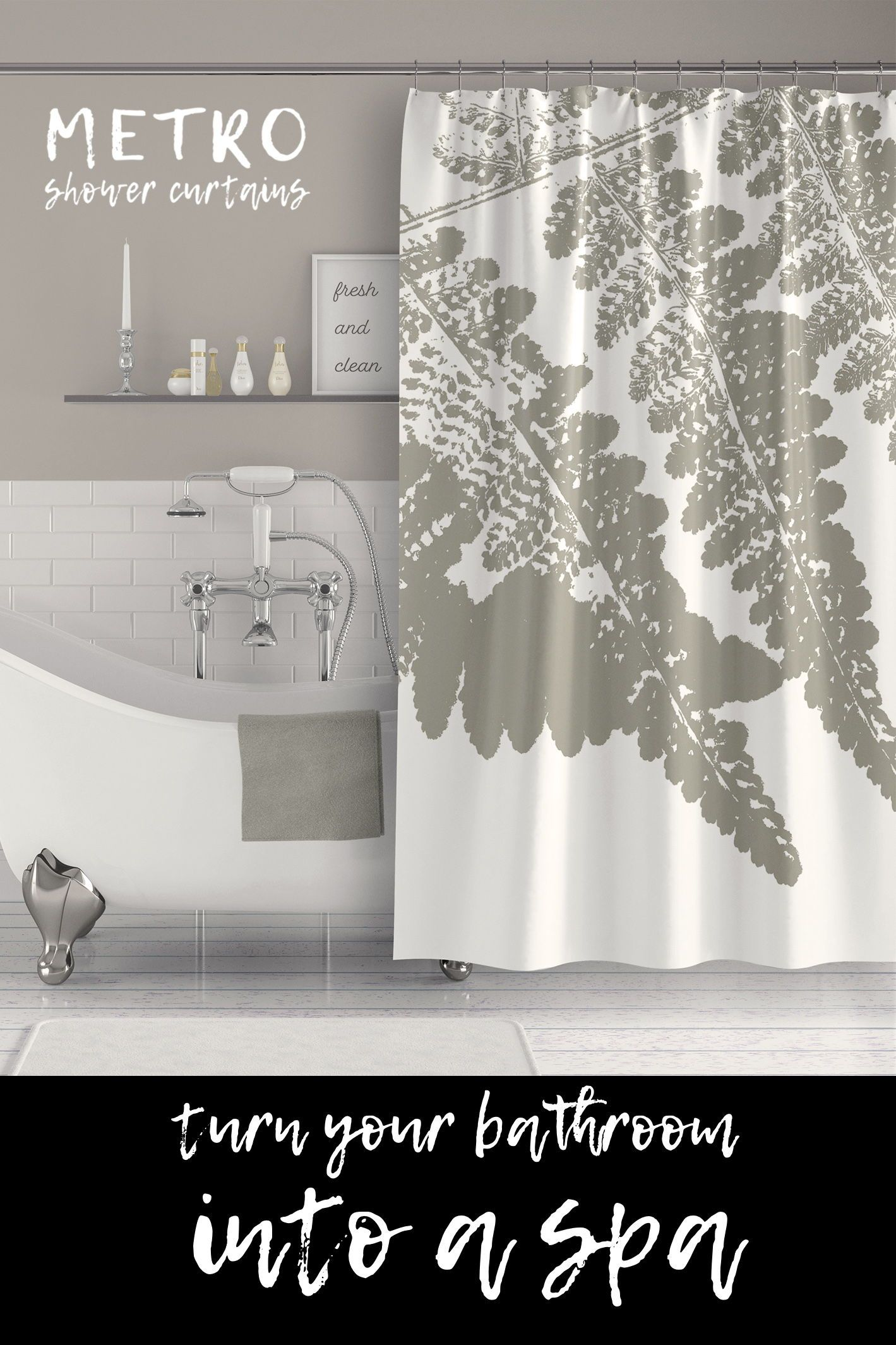 Turn Your Bathroom Into A Spa With This Beautiful Ink Print Style