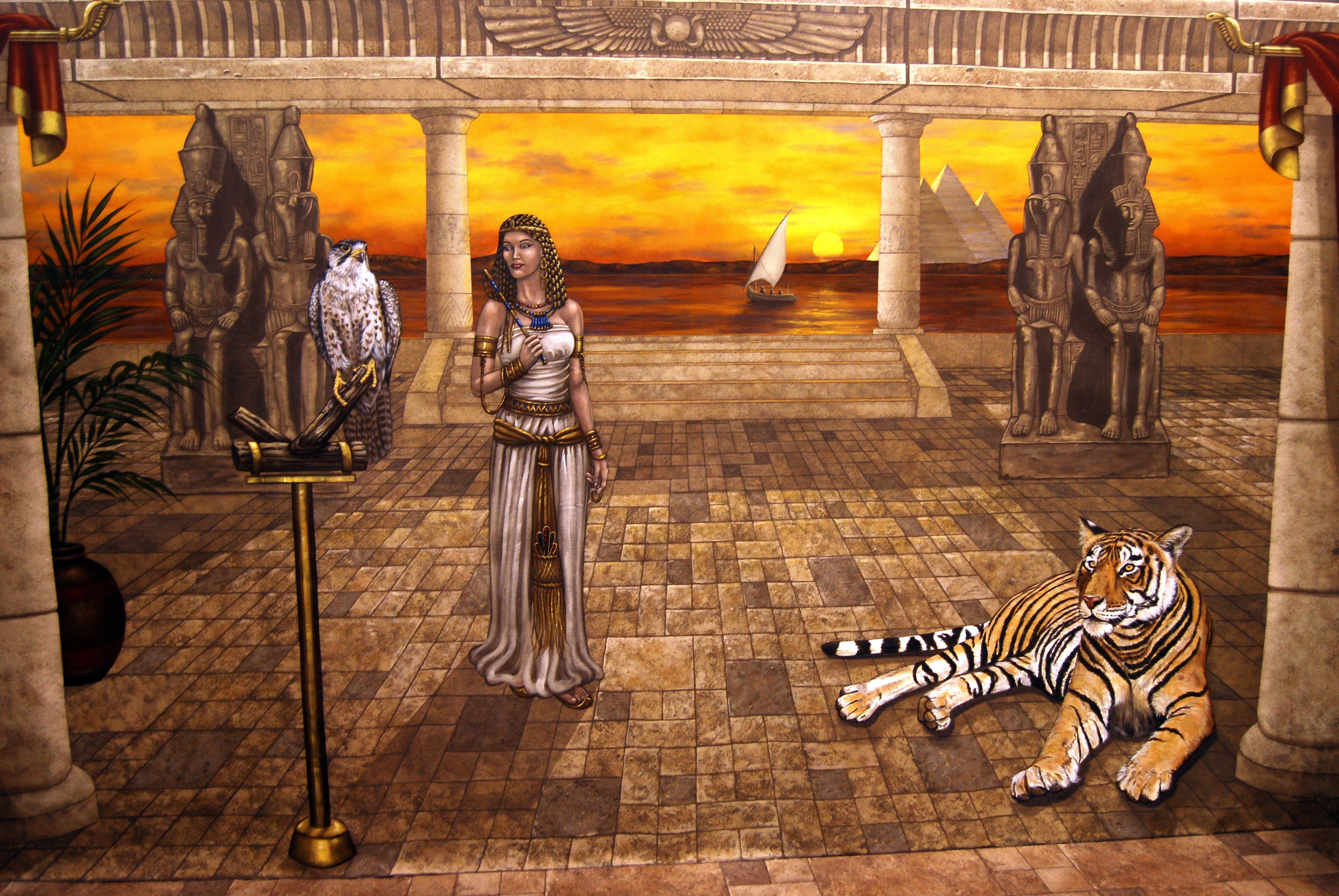 Ancient Egypt Wall Mural 8 X 20 Feet. In Home Office By Tom Taylor Of Part 42