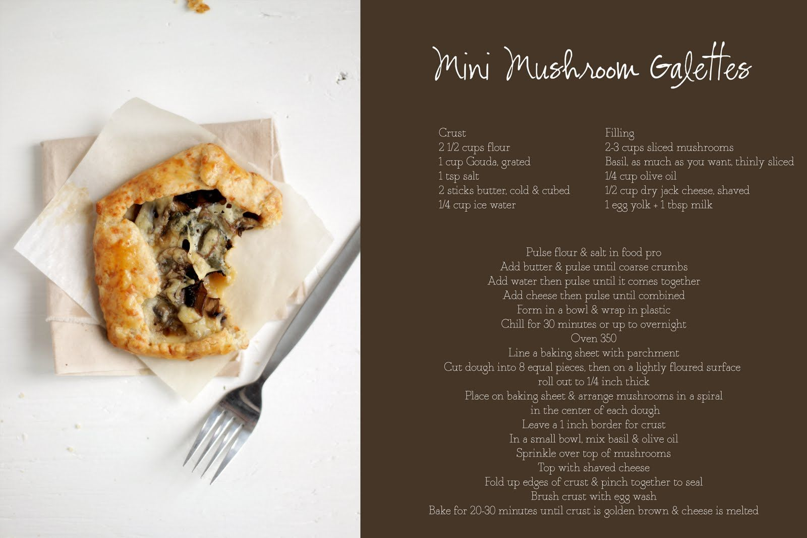 Always With Butter: Mini Mushroom Galettes