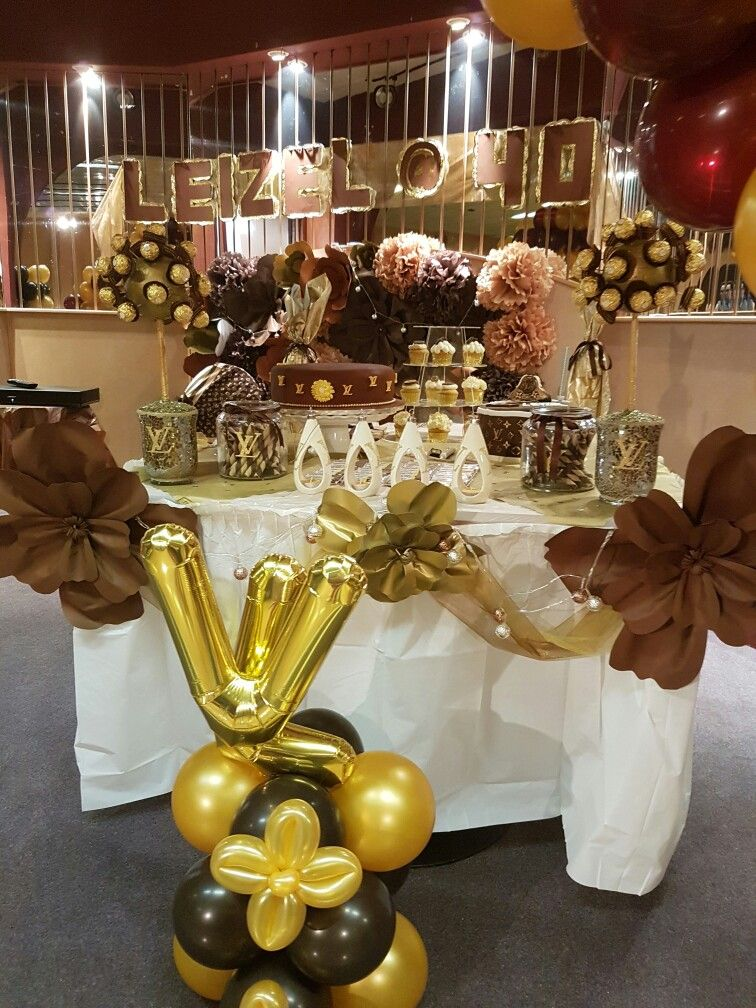 My Louis Vuitton Theme Party Mom S 60th Pinterest