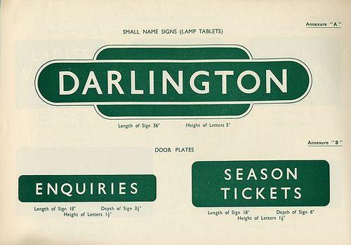 British Railways Standard Signs Manual 1948 | Signage / Wayfinding