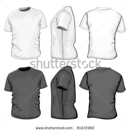 Download Vector Men S T Shirt Design Template Front Back And Side View No Mesh By Ivelly Via Shutterstock Polo Shirt Design T Shirt Design Template Shirt Designs