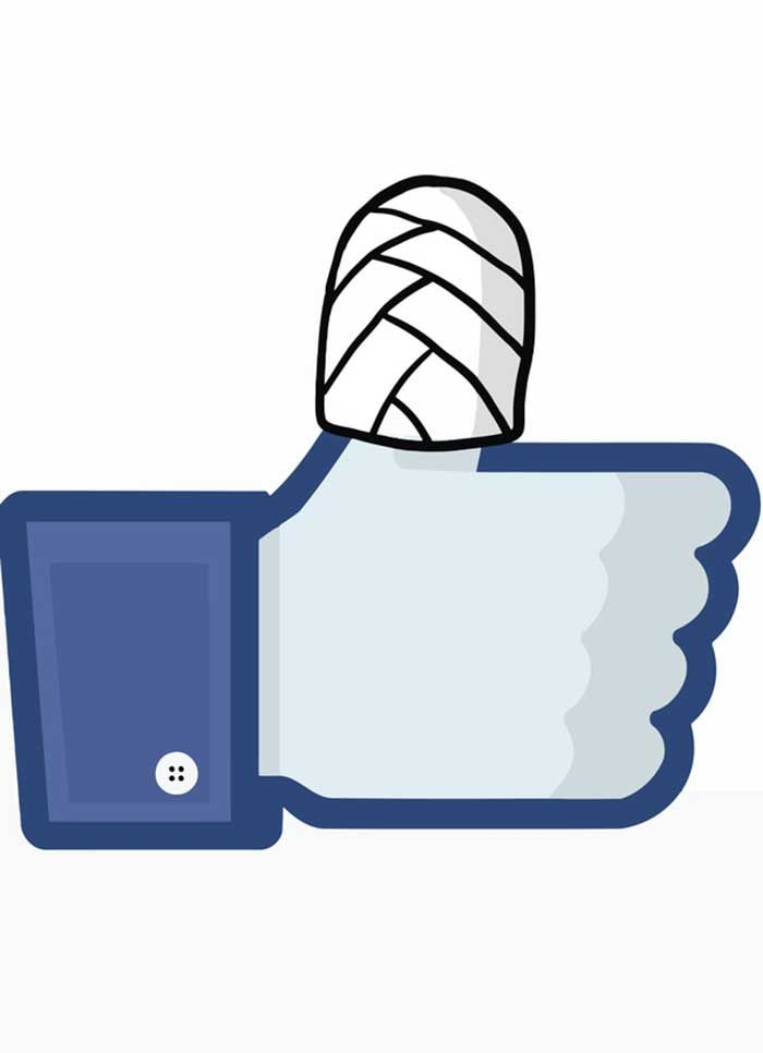 Like Symbol With Bandaged Thumb Facebook Related Articles Fun