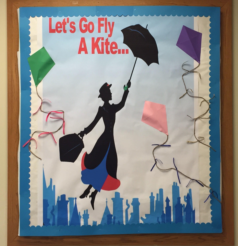 Mary Poppins Kites Library Bulletin Board