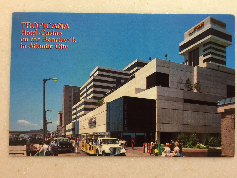 Vintage Postcard Tropicana Casino Atlantic City Nj Boardwalk By Lorasvintageshop On Etsy Https Www Etsy Com Listing 519379769 Vi Atlantic City Tropicana Hotel