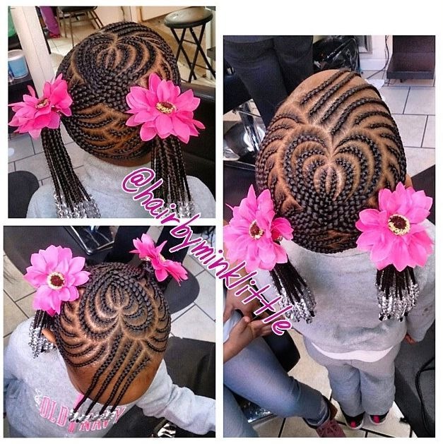 Stupendous Kids Braided Hairstyles Heart Hair And Black Kids On Pinterest Hairstyles For Men Maxibearus