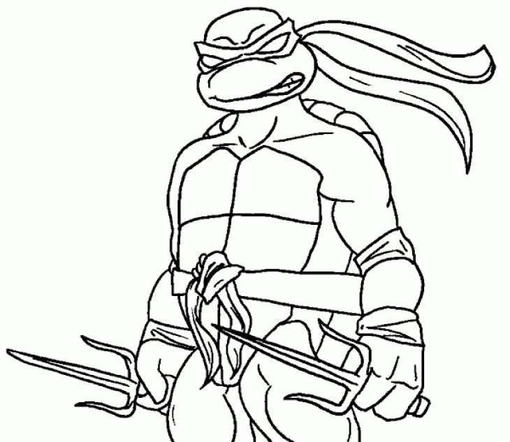 Raphael ninja turtle coloring page  Superheroes Coloring Pages
