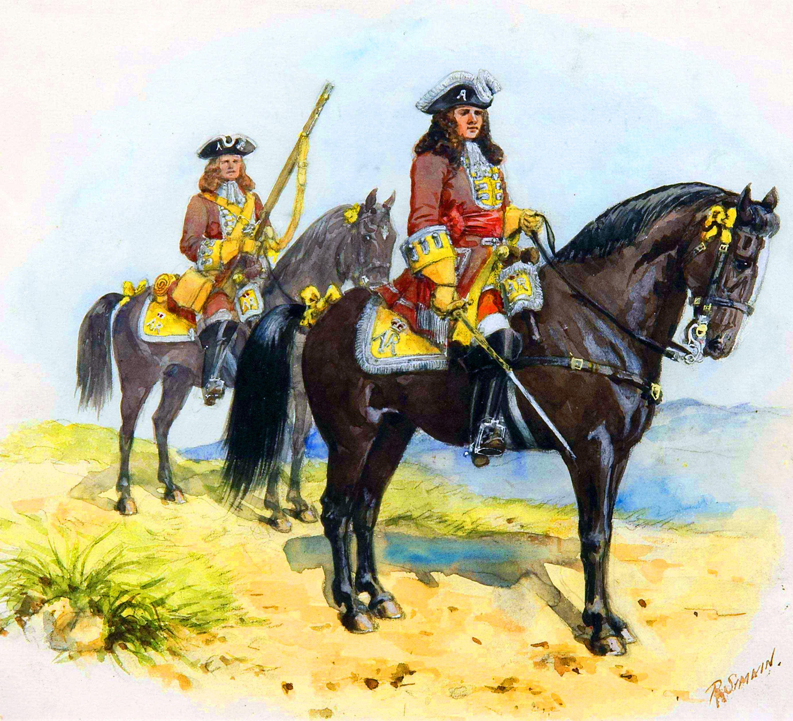Duke of Marlborough during the War of the Spanish Succession- by Richard Simkin