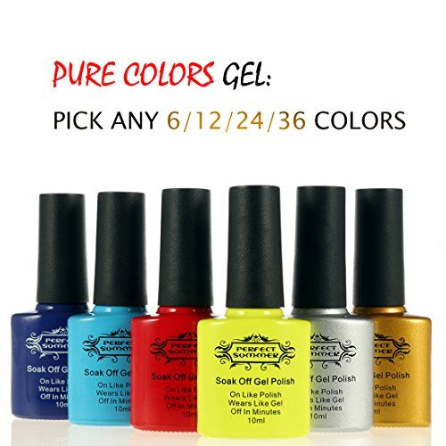 Perfect Summer Pick Any 6 Colors Colors Gel Nails Polishes Shiny