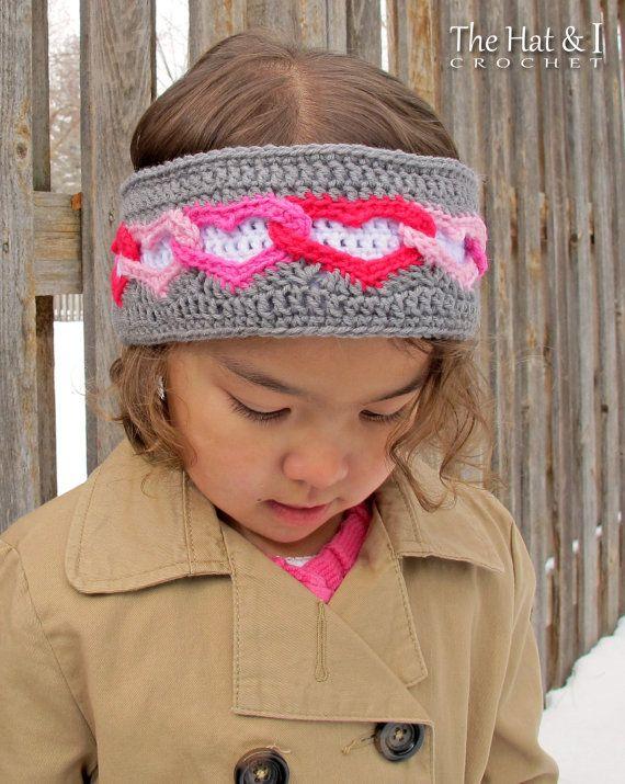 Crochet Pattern Heart Warmer Crochet Head Wrap Pattern Heart