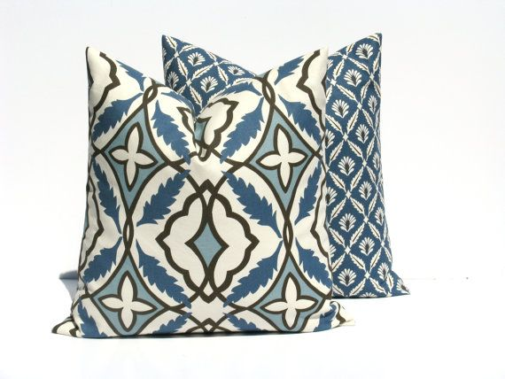 Blue Gray Pillow Throw Pillow Covers 20x20 Navy By Eastandnest Low