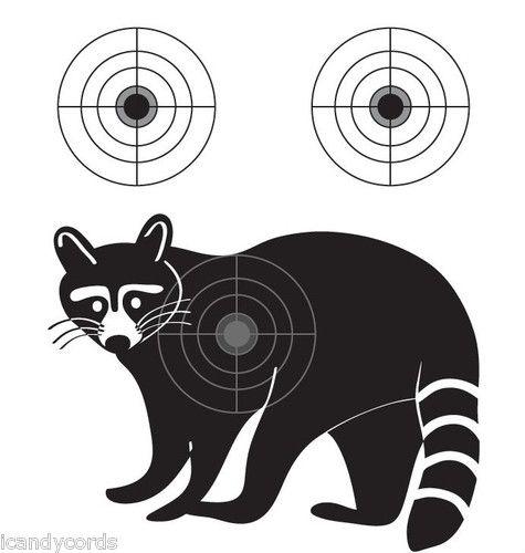 Raccoon Silhouette Shooting Target 8 Qty Pistol Gun ...