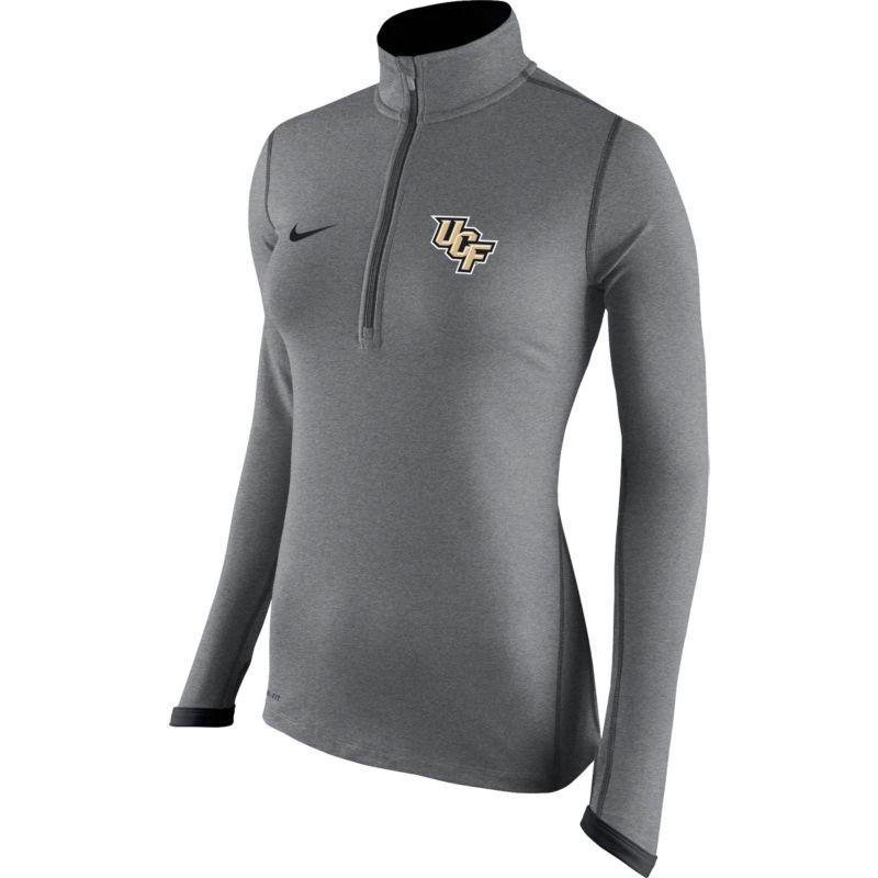 e2af050e Nike Women's UCF Knights Heathered Grey Element Quarter-Zip Shirt ...