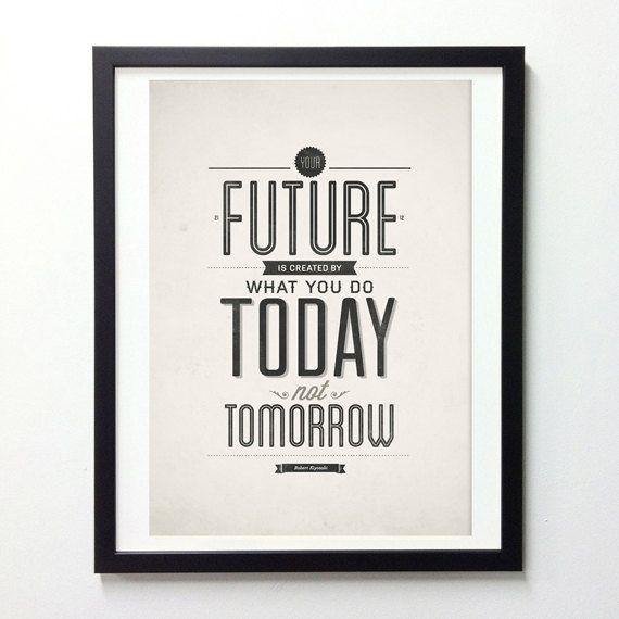 Robert Kiyosaki Inspirational Wall Art Print Motivational Quote Poster Decor