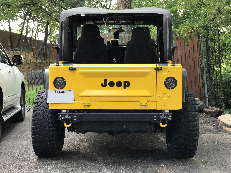 Tj Lj Rear Tail Plate Bumper Bumpers Jeep Tj Plates