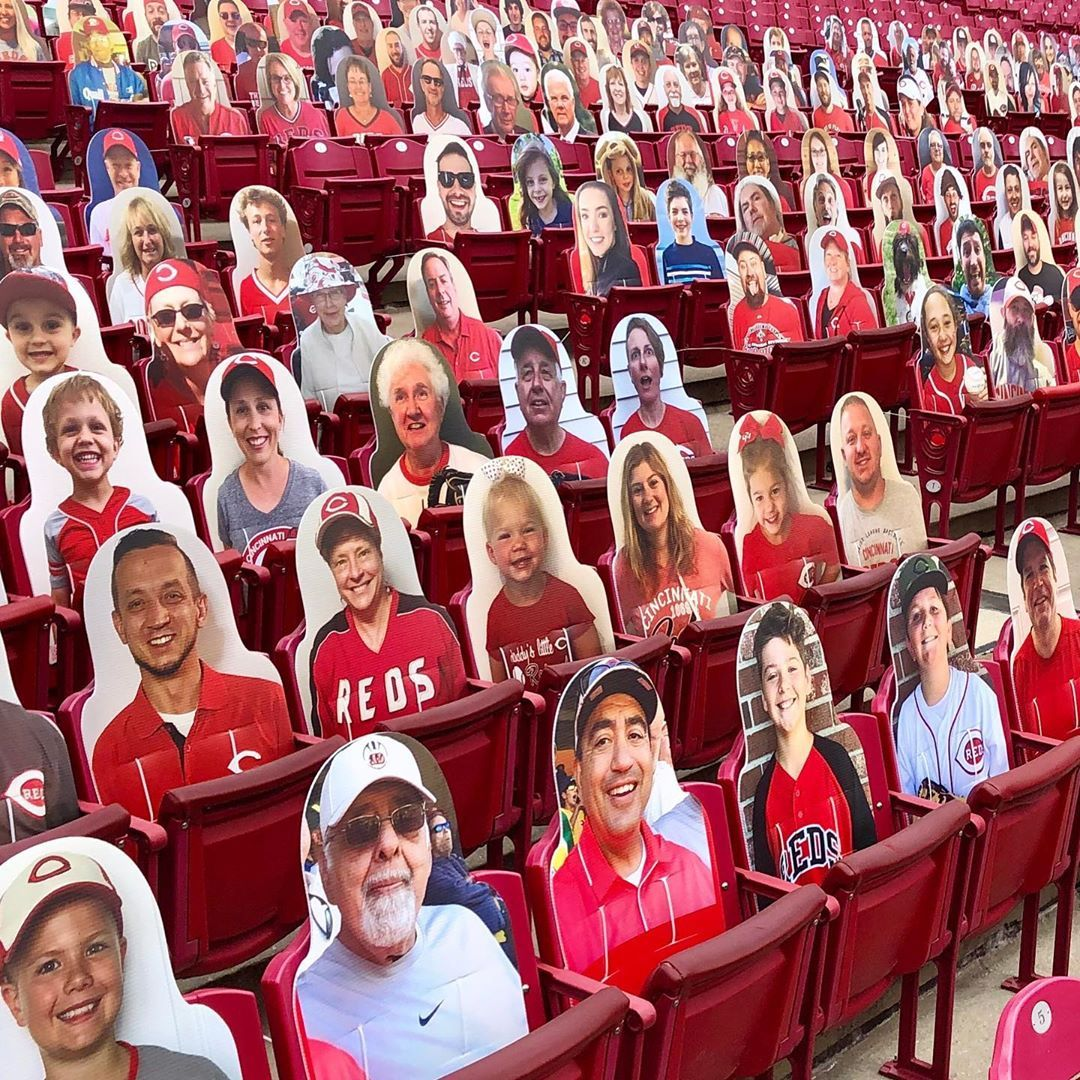 Cincinnati Reds Grab A Seat At Gabp This Season With Our Reds Fan Cutouts Proceeds Benefit The In 2020 Cincinnati Reds Atlanta Braves Cincinnati